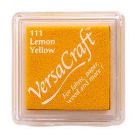 Stempelkussen versacraft lemon yellow gele inkt