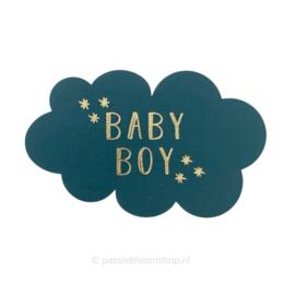 Sluitsticker wolkje baby boy blauw