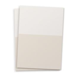 Blanco A6 postkaart twee kleuren beige