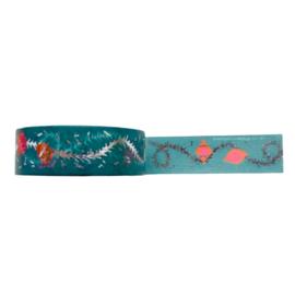 Washi tape kerst slinger groen