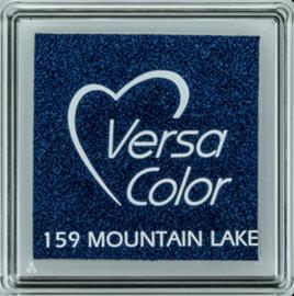 Donker blauw stempelkussen versacolor klein | 159 MOUNTAIN LAKE
