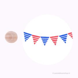 Mini Stempel M | Vlaggetje met strepen