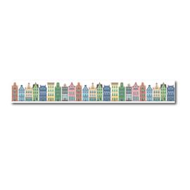Washi tape, grachtenpand Amsterdamse huisjes