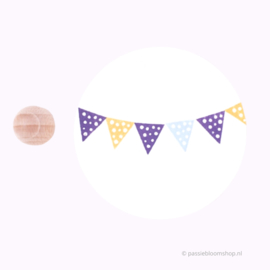 Mini Stempel M | Vlaggetje met stippen