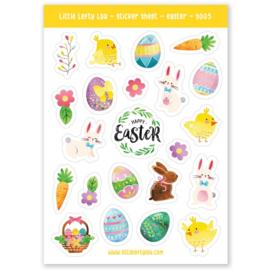 Stickers pasen, voorjaar