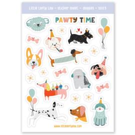 Stickers honden feest