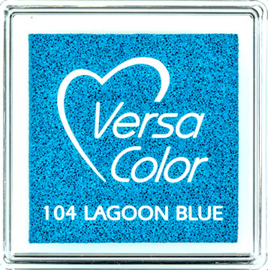 Versacolor |  104 LAGOON BLUE  | Blauw stempelkussen