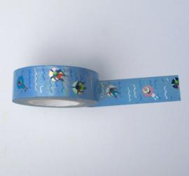 Washi tape | Glimmend zwembad/ zee