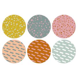 Ronde sluitstickers mix gekleurde patronen