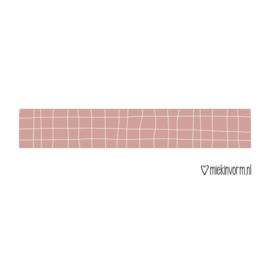 Grid washi tape oudroze