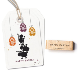 Typemachine tekst stempel happy easter