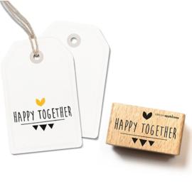 Happy together tekst stempel