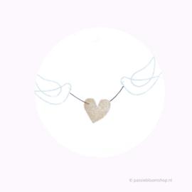 Mini stempel M | Getekend hart