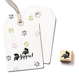 Stempel kleine schildpad | Cats on appletrees | mini 2864