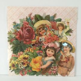 SALE - Stickers Poezie plaatjes  vintage & bloemen