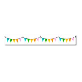 Washi tape gekleurde vlaggetjes, feestje