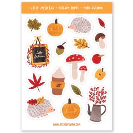 Stickers herfst egeltjes