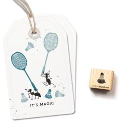 Mini stempel badminton shuttle