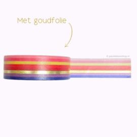 Washi tape gekleurde strepen (regenboog)