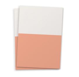 DIY blanco kaart twee kleuren perzik A6