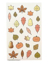 Stickers kleine blaadjes herfst kleuren