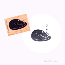 Stempel slapende poes