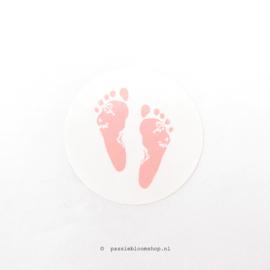 Sluitsticker rond voetjes Roze
