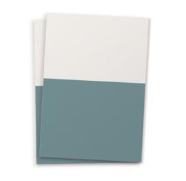 DIY blanco kaart twee kleuren donkerblauw  A6