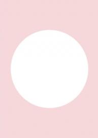 DIY blanco kaart pastel roze