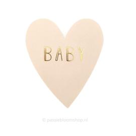 Sluitsticker hartje baby beige