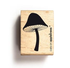 Stempel hout paddenstoel dicht