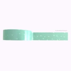 Washi tape mint groen sneeuwvlokken