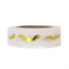 Washi tape | Gouden vleermuizen