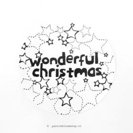Sluitstickers rond kerst zwart wit
