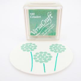 Stempelkussen Versacraft | GROEN | Celadon