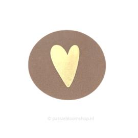 Sluitsticker rond hartje roest bruin