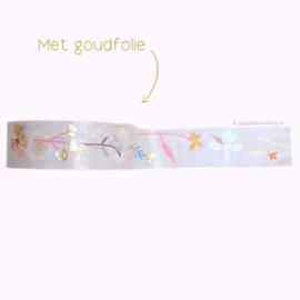 Washi tape wilde bloemen pastel