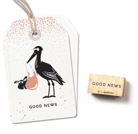 Engelse tekst stempel Good news