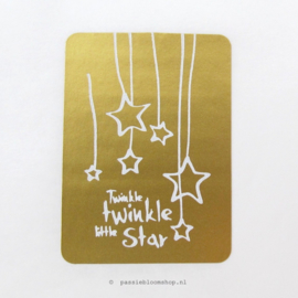 Sluitsticker Twinkle Twinkle little star Goud
