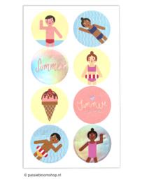 Stickers zomer vakantie