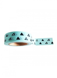 Washi tape | Mint groen, zwarte driehoek