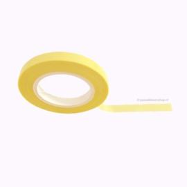 Dun washi tape egaal pastel geel