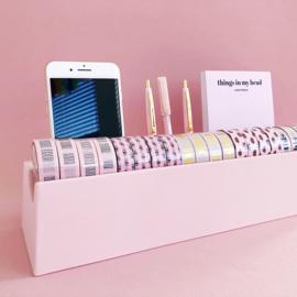 Washi tape houder roze bamboe