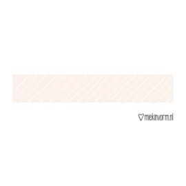 Washi tape schuine strepen roze