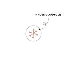 Stickertje rosegoud sneeuwvlokje
