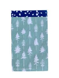 Cadeauzakje kerstbomen mint groen 12x19
