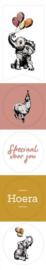 Stickers feest dieren (5stuks)