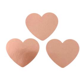 Sluitstickers rosé goud hartjes