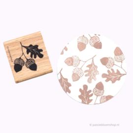 Stempel hout | HERFST | Eiken noot | Eikeltjes