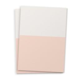 DIY blanco kaart twee kleuren nude roze  A6